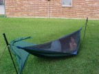 Hennesy Hammock as a bivy - showing sleeping space
